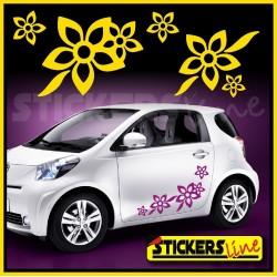 Kit di adesivi FIORI 2 SMART FIAT 500 car Flowers stickers