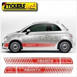 Adesivi FIAT 500 ABARTH ASSETTO CORSE fasce fiancate Fiat 500 adesivo fiat 500