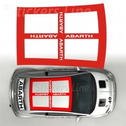 Adesivo TETTO adesivi Fiat 500 capote SCACCHI STANDARD scacchiera stickers 500