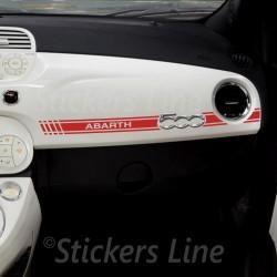 Adesivo FIAT 500 ABARTH plancia adesivo cruscotto adesivi fiat 500 - NEW