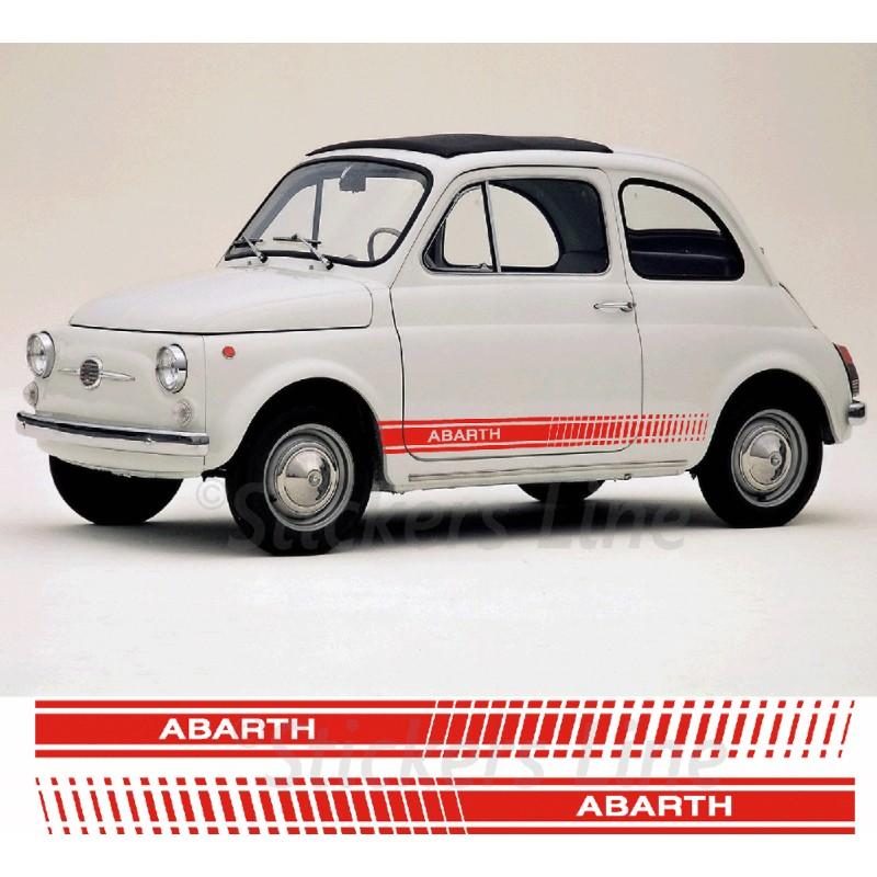 Fasce Adesive Fiat 500 ABARTH D'EPOCA Strisce Fiancate