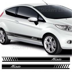 Fasce adesive Ford FIESTA strisce fiancate adesivi ford laterali fiesta st