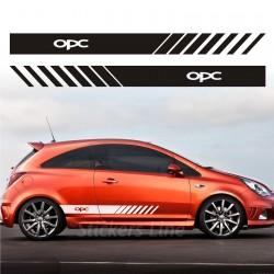 kit adesivi opel corsa OPC fasce laterali adesivo opel opc strisce opel corsa
