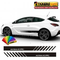 2 Strisce adesive laterali Opel ASTRA GTC fasce fiancate astra adesivi opel