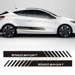 Fasce adesive Renault Megane strisce fiancate adesivi laterali adesivo megane
