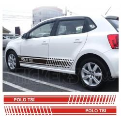 Adesivi Volkswagen POLO TSI fasce adesive POLO TSI car stickers polo TSI