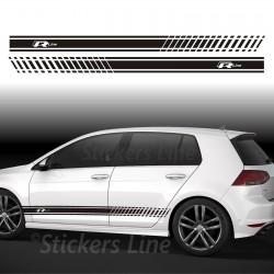 Fasce adesive Volkswagen GOLF R-Line adesivi VW golf fiancate rline strisce golf
