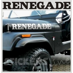Adesivi Jeep RENEGADE scritte Renegade JEEP CJ CJ3 CJ5 CJ7 CJ8 ADESIVI 4X4