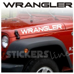 Adesivi Jeep WRANGLER laterale cofano scritte Wrangler TJ YJ rubicon sahara 4X4