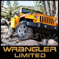 Adesivi Jeep WRANGLER LIMITED scritte Wrangler TJ - YJ - rubicon - sahara 4X4