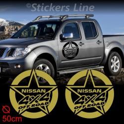 2 Adesivi STELLA 50 cm fuoristrada NISSAN 4X4 Patrol Terrano Navara off road