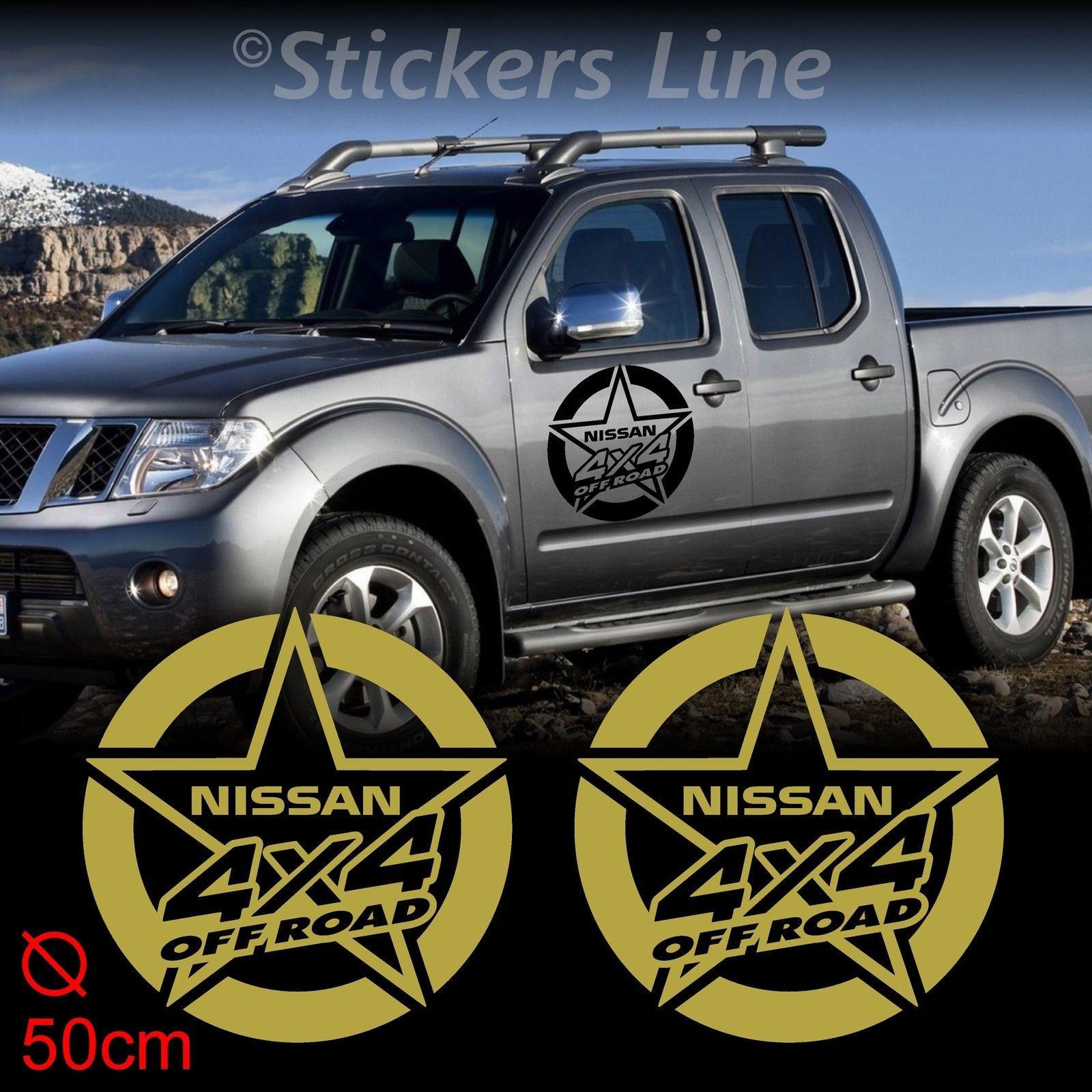 2 Adesivi Stella 50 Cm Fuoristrada Nissan 4x4 Patrol Terrano Navara