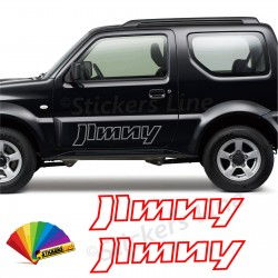 2 Adesivi portiera fuoristrada Suzuki JIMNY adesivi fiancate 4x4 off road