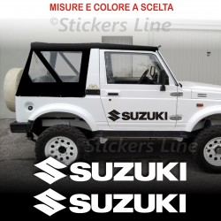 2 Adesivi portiera fuoristrada SUZUKI 4X4 Santana Samurai Vitara Jimny off road