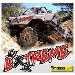 Adesivi fuoristrada 4x4 EXTREME 2 mis. cm 185x50 adesivi per fiancate off-road