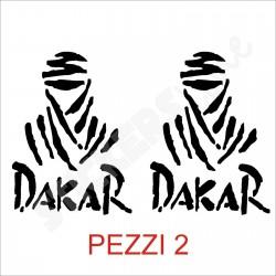 adesivi DAKAR 2 pezzi COPPIA adesivo DAKAR tuareg stickers DAKAR cm 10