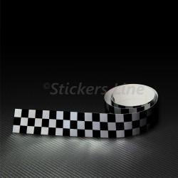 2 PEZZI Adesivo fascia striscia SCACCHI cm 120 x 0,5 SCACCHIERA