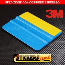 Spatola professionale 3M con feltro pellicola CARBONIO adesivo CAR WRAPPING