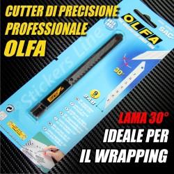 Taglierino professionale OLFA lama 30° cutter di PRECISIONE car WRAPPING adesivi