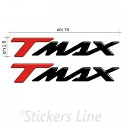 Scritte Tmax resinati scritta tmax resinata resinate 500 530 Rosso Nero rilievo