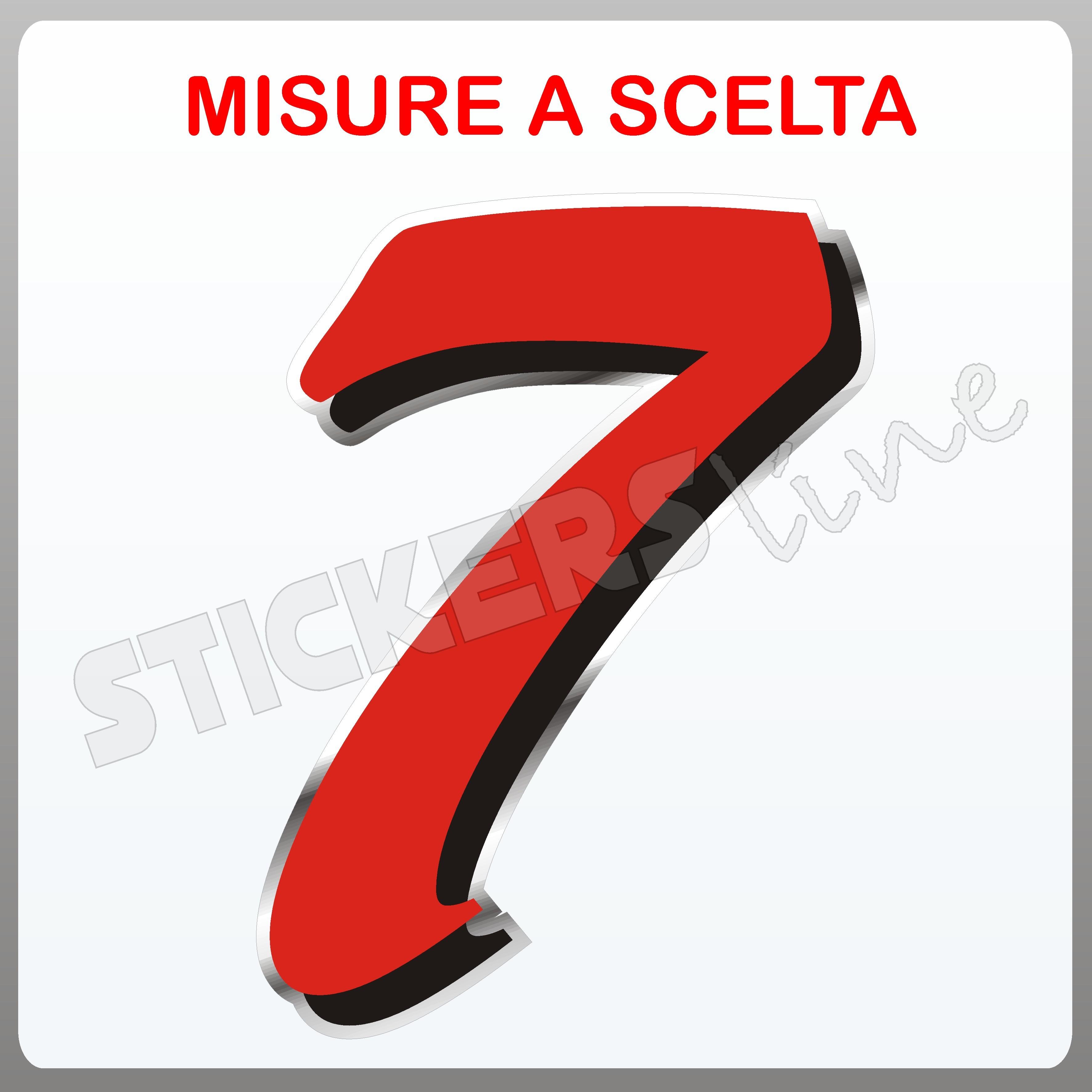 """Adesivo Numero Gara per Moto /""""1/"""" Bianco 2,7 x 3,7 cm"""
