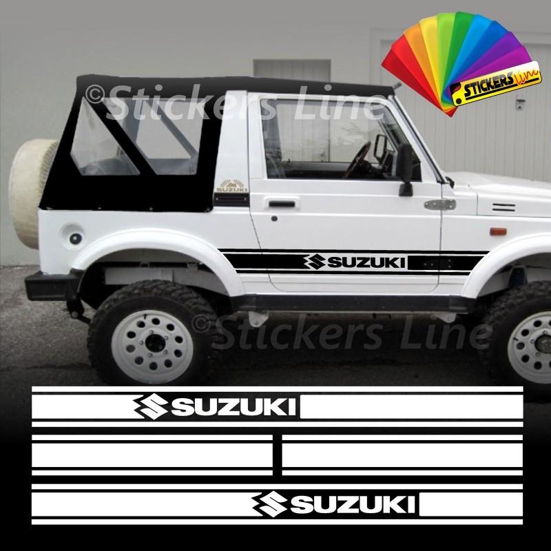 Motoryzacja: Części KIT GRAFICHE ADESIVE STIKERS 4X4 FUORISTRADA SUZUKI 4X4 SAMURAI SANTANA