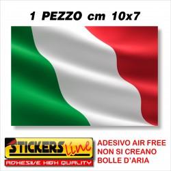 Adesivo BANDIERA ITALIANA cm 10 x 7 adesivi bandiera italiana tricolore ITALIA