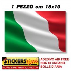 Adesivo BANDIERA ITALIANA cm 15 x 10 adesivi bandiera italiana tricolore ITALIA