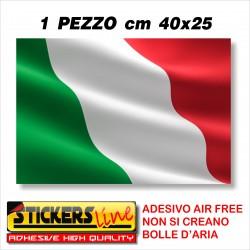 Adesivo BANDIERA ITALIANA cm 40 x 25 adesivi bandiera italiana tricolore ITALIA