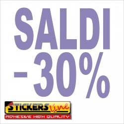 Adesivo SALDI vetrina negozio vetrine negozi adesivi saldi scritte sconti - 30%