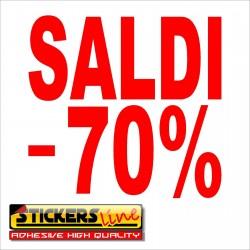 Adesivo SALDI vetrina negozio vetrine negozi adesivi saldi scritte sconti - 70%