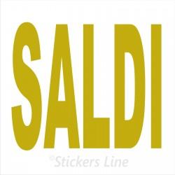 Adesivo SALDI vetrina negozio vetrine negozi adesivi saldi scritte sconti MOD1