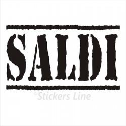 Adesivo SALDI vetrina negozio vetrine negozi adesivi saldi scritte sconti MOD3
