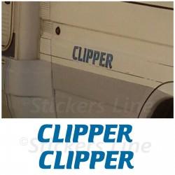 2 Adesivi CLIPPER per camper Elnagh adesivo scritte adesive vintage caravan