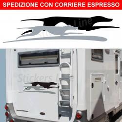 Adesivo camper CANI LAIKA adesivo camper scritte adesive decalcomanie caravan