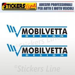 2 Adesivi per camper MOBILVETTA adesivo decalcomanie scritte adesive caravan