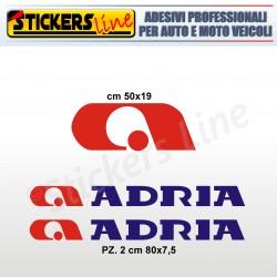 Kit di 3 adesivi per camper ADRIA loghi stickers caravan roulotte decal adria