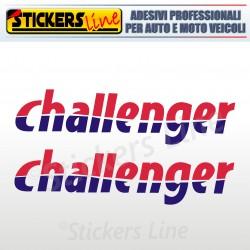 2 Adesivi per camper CHALLENGER adesivo decalcomanie scritte adesive caravan
