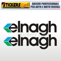 2 Adesivi per camper ELNAGH adesivo decalcomanie scritte adesive caravan colori