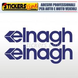 2 Adesivi per camper ELNAGH adesivo scritte adesive caravan monocolore