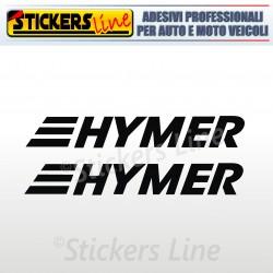 2 Adesivi per camper HYMER adesivo scritte adesive caravan monocolore