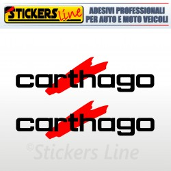 2 Adesivi per camper CARTHAGO adesivo decalcomanie scritte adesive caravan