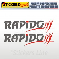 2 Adesivi per camper RAPIDO adesivo camper scritte adesive decalcomanie caravan