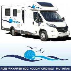 Adesivi per camper mod. Holiday adesivo camper caravan Laika Elnagh Mobilvetta Adria Hymer Hobby Arca ecc