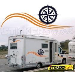 Adesivi per camper mod. Liberty adesivo camper caravan Laika Elnagh Mobilvetta Adria Hymer Hobby Arca ecc