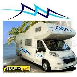 Adesivi per camper mod. Ocean adesivo camper caravan Laika Elnagh Mobilvetta Adria Hymer Hobby Arca ecc