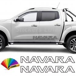 2 Adesivi fiancata fuoristrada Nissan NAVARA adesivi laterali 4x4 off road