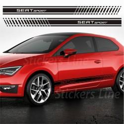 Fasce adesive Seat LEON strisce fiancate adesivi laterali seat leon cupra fr
