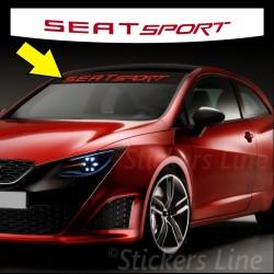 Adesivo fascia parasole SEAT SPORT parabrezza seat ibiza seat leon cupra fr ecc.