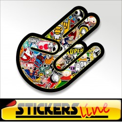 Stickers adesivo THE SHOCKER - STICKERS BOMB shocker hand stickersbomb M1 tuning
